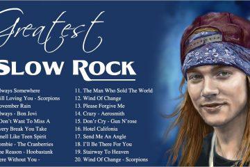 Best Slow Rock 80s 90s – Bon Jovi, Nirvana, Scorpions, Aerosmith, Led Zepplein