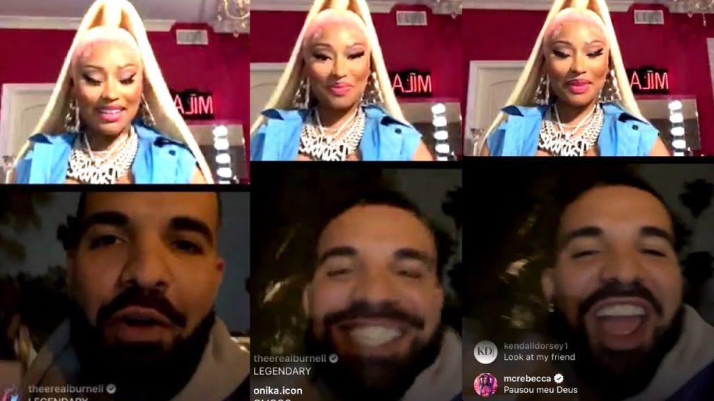 Drake Surprises Nicki Minaj On Instagram Live !   Nicki In Tears