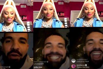 Drake Surprises Nicki Minaj On Instagram Live ! | Nicki In Tears