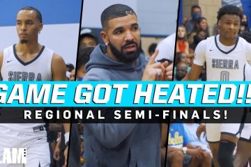 Drake Was Courtside for Bronny and Amari Bailey in a WILD Regional Semi-Final!!! 🔥